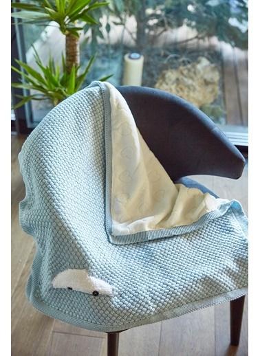 Arma Baby's Çift Taraflı Beyaz Arabalı Havlu Battaniye 85 x 85 Beyaz